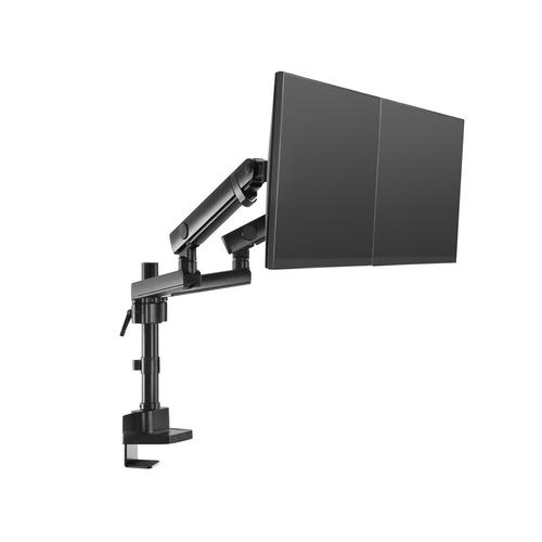 V7 DMPRO2DTA-3E Tischhalterung für Monitor - Mattschwarz - 2 Unterstützte(r) Display(s)Bildschirmgröße: 81,3 cm (32 Zoll)