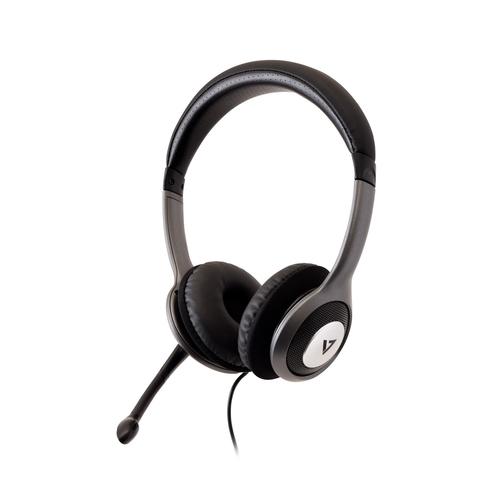 V7 HU521-2EP. Produkttyp: Kopfhörer, Tragestil: Kopfband, Empfohlene Nutzung: Büro/Callcenter. Übertragungstechnik: Verkab