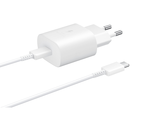 SAMSUNG WALL CHARGER 25W USB-C WHITE EP-TA800XWEGWW