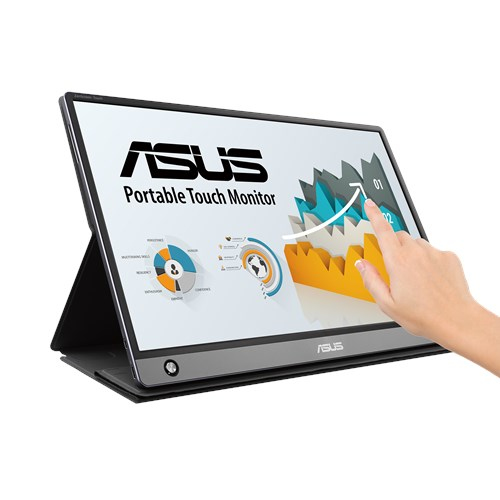 """ASUS Touch touch screen monitor 39.6 cm (15.6"""") 1920 x 1080 pixels Grey Multi-touch Tabletop"""