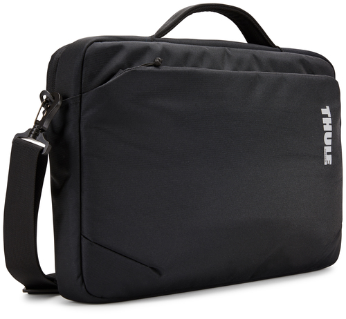"Thule Subterra Carrying Case (Attaché) for 38.1 cm (15"") Apple iPad MacBook, Document, Accessories - Black - Water Resista"