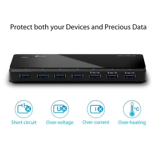 TP-Link UH700 USB-Hub - USB 3.0 Micro-B - Extern - 7 Total USB Port(s) - 7 USB 3.0 Port(s) - Linux, Mac, PC