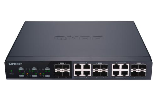 QNAP QSW-M1208-8C. Tipo interruttore: Gestito. Tipo di porte RJ-45: 10G Ethernet (100/1000/10000), Console port: RJ-45. Fu