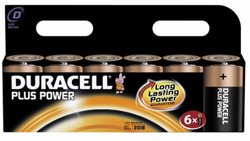 Duracell 6x D 1.5V Alkaline 1.5V non-rechargeable battery