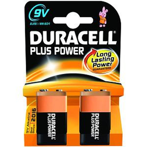 Duracell MN1604B2 Alkaline 9V non-rechargeable battery