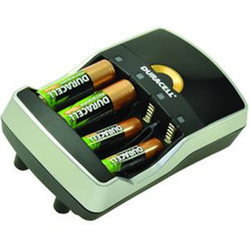Duracell CEF15UK Indoor Black,Silver battery charger