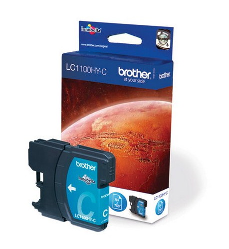 BROTHER LC-1100 inktcartridge cyaan high capacity 16ml 750 pagina s 1-pack
