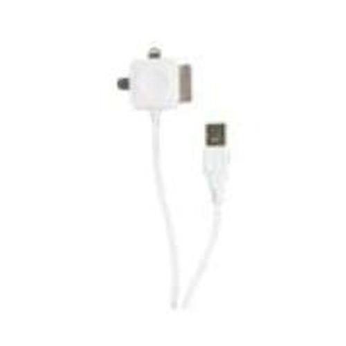 2-Power USB5015A 1m USB A Micro-USB B/Apple 30-p/Lightning White mobile phone cable