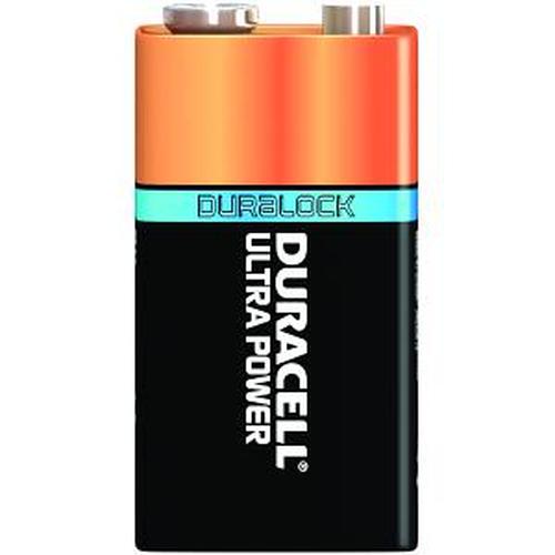 Duracell Ultra Power 9V, 5 Pack Alkaline 9V non-rechargeable battery