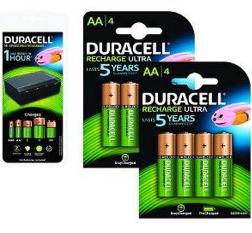 2-Power 4 x AA, 4 x AAA, 4 x C/D, 1 x 9 V 450mAh rechargeable battery