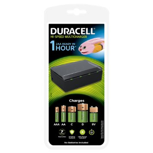 Duracell 1 hour Multi Charger CEF22 + 8 AA Rechargeable Ultra
