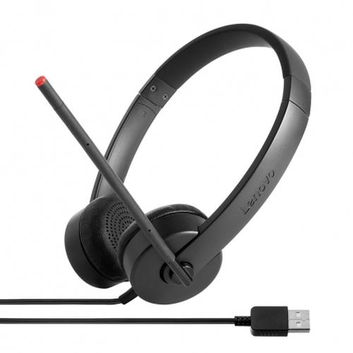 Lenovo Stereo USB Binaural Head-band Black headset