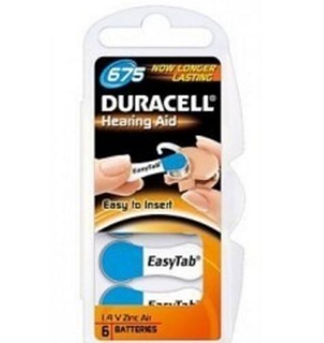 Duracell 1.4 V, zinc-air, 6 pack Zinc-Air 1.4V non-rechargeable battery