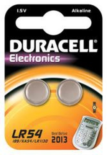 Duracell LR54 Alkaline 1.5V non-rechargeable battery