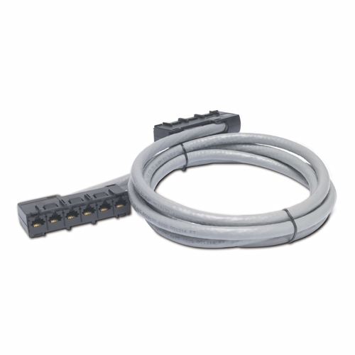 APC 25ft Cat5e UTP, 6x RJ-45 - 6x RJ-45 7.62m Cat5e U/UTP (UTP) Grey networking cable