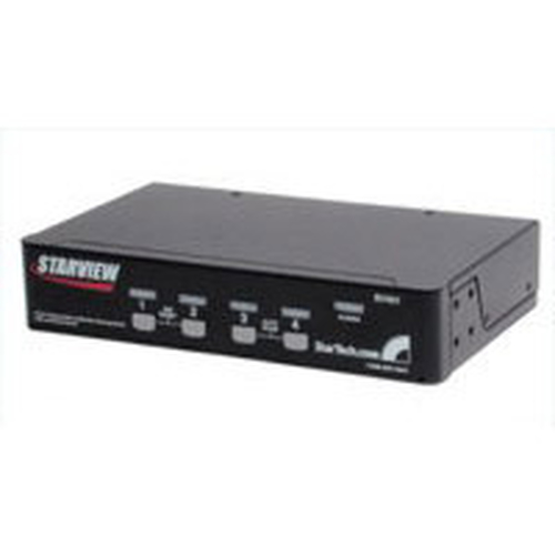 StarTech.com 4 Port Star View KVM Switch Rack mounting Black