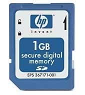 HP 1 GB Secure Digital Memory Card smart card