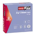 Iomega Zip® 750MB Disk 3-Pack PC/Mac® 750MB disco zip