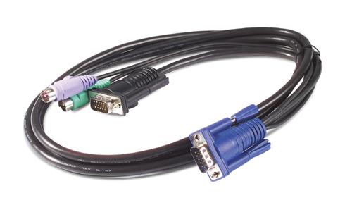 APC AP5254 3.66m Nero cavo per tastiera, video e mouse