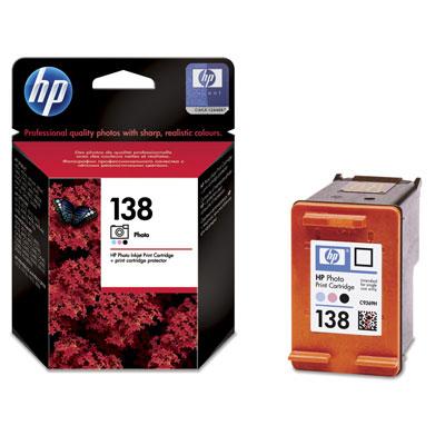 HP 138 Photo Inkjet Nero, Ciano chiaro, Magenta chiaro cartuccia d