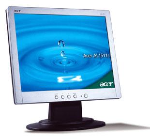 """Acer AL1511s 15"""" LCD 15"""" Argento monitor piatto per PC"""