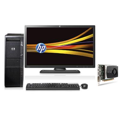 HP 600 + NVIDIA Quadro 2000 1.0GB + ZR2440w 2.4GHz E5620 Torre Stazione di lavoro