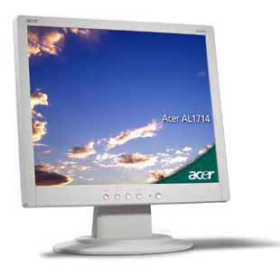 "Acer AL1714ms 17i LCD with speaker analog - TCO 99 silver 17"" monitor piatto per PC"