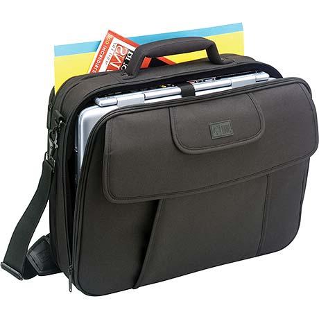 "Case Logic Black Nylon Notebook Case with File Compartment 15.4"" Nero"