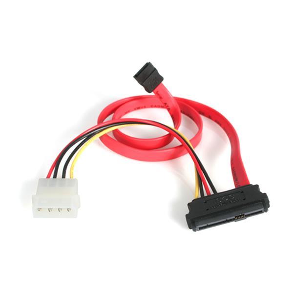 StarTech.com Cavo SAS 29 Pin a SATA e alimentazione LP4, 45 cm