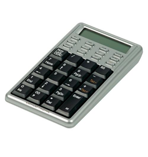 Conceptronic Calculator with NumKeypad USB tastiera
