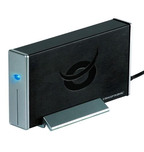 "Conceptronic USB 2.0 & Firewire Harddisk Box 3.5"" 3.5"" Nero"