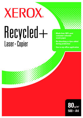 Xerox Recycled+ A4 80g/m² 500 Sheets Bianco carta inkjet