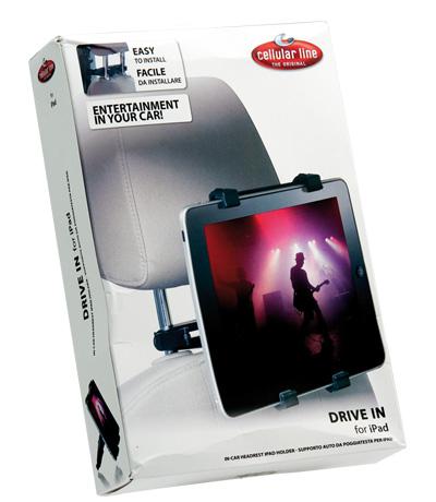 Cellularline DRIVE IN for iPad Passive holder Nero