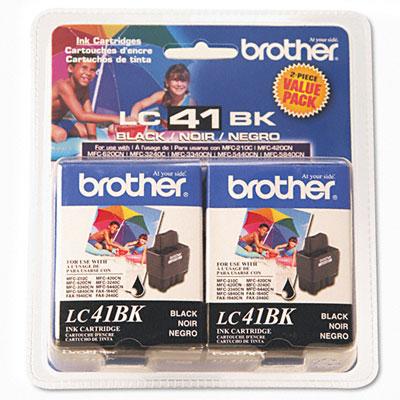 Brother Inkjet Cartridge 2-Pack Black Nero cartuccia d