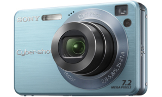 "Sony Cyber-shot DSC-W120 Fotocamera compatta 7.2MP 1/2.5"" CCD Blu"