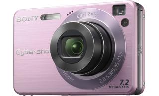 """Sony Cyber-shot DSC-W120 Fotocamera compatta 7.2MP 1/2.5"""" CCD Rosa"""