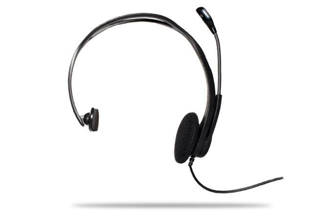 Logitech PC 850 Mono Headset Monofonico Cablato Nero auricolare per telefono cellulare