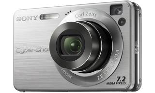 """Sony Cyber-shot DSC-W120 Fotocamera compatta 7.2MP 1/2.5"""" CCD Argento"""