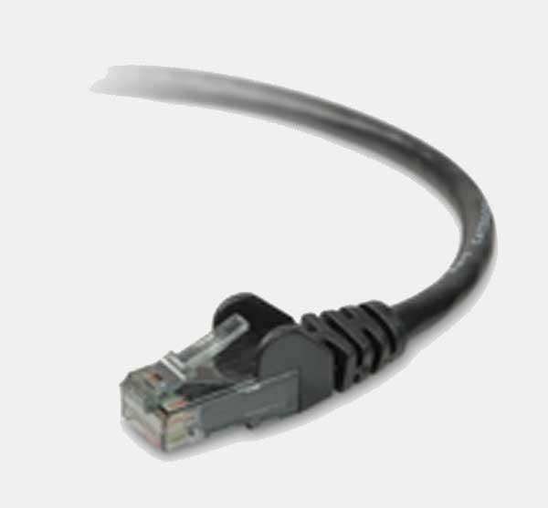V7 Patch Cables RJ45M/M (UTP) Black 1m Nero cavo di rete