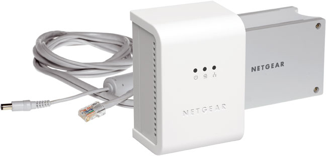Netgear Space-Saving Powerline Network Kit 85Mbit/s scheda di rete e adattatore