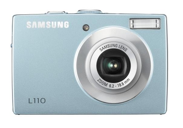 """Samsung L L110 8.2MP 1/2.5"""" CCD 3264 x 2448Pixel Blu"""