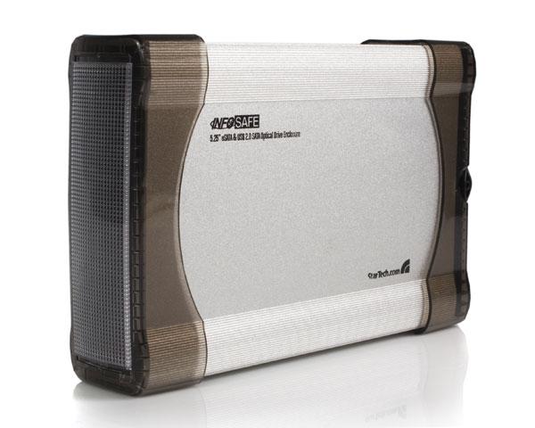 """StarTech.com InfoSafe 5.25"""" eSATA/USB 2.0 SATA Argento"""