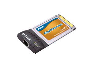 D-Link Copper Gigabit CardBus Adapter 1000Mbit/s scheda di rete e adattatore