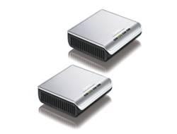 ZyXEL PLA-400 v2 KIT 2 x Powerline Adapter fuer HomePlug AV 200Mbps No gestito Bianco
