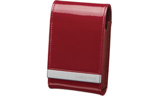Sony Soft Carry Case in Genuine Leather, Red Rosso
