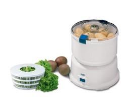 Princess 491940 Royal Potato Peeler / Salad Spinner Piano di lavoro Electric potato peeler