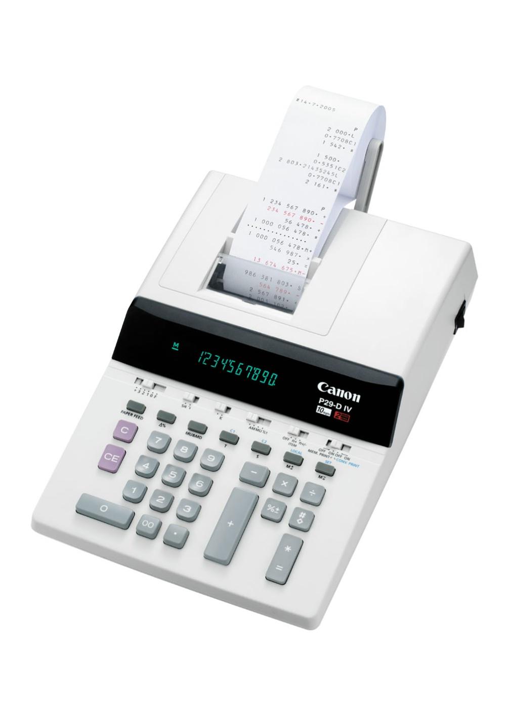 Canon Office Printing Calculator P29-DIV Tasca Calcolatrice con stampa Beige