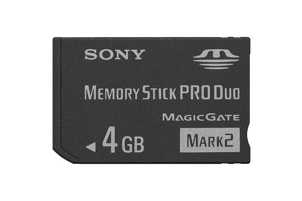 Sony MS Pro Duo 4GB Mark2 + Adapter 4GB MS memoria flash