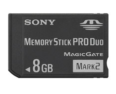 Sony Memory Stick Pro Duo Mark2 8GB MS memoria flash