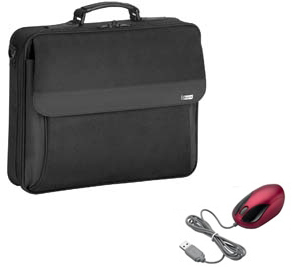 "Targus Notebook Case + Wired Optical Mouse 15.4"" Valigetta ventiquattrore Nero"